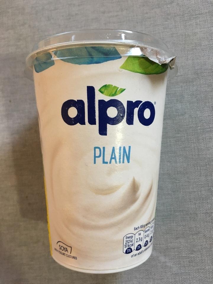 Alpro yogurt (plant based)