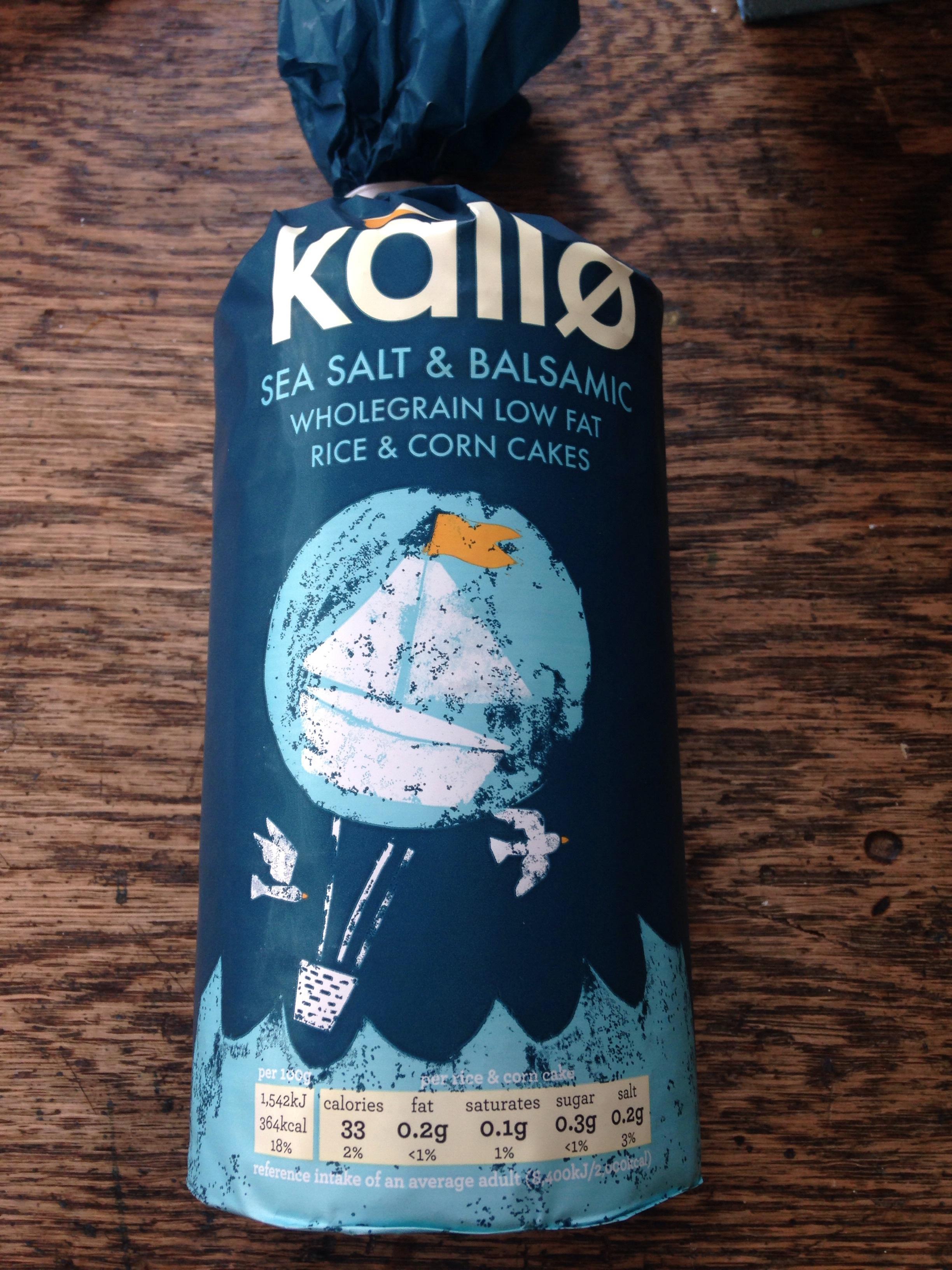KALLO SEA SALT AND BALSAMIC RICE CAKE