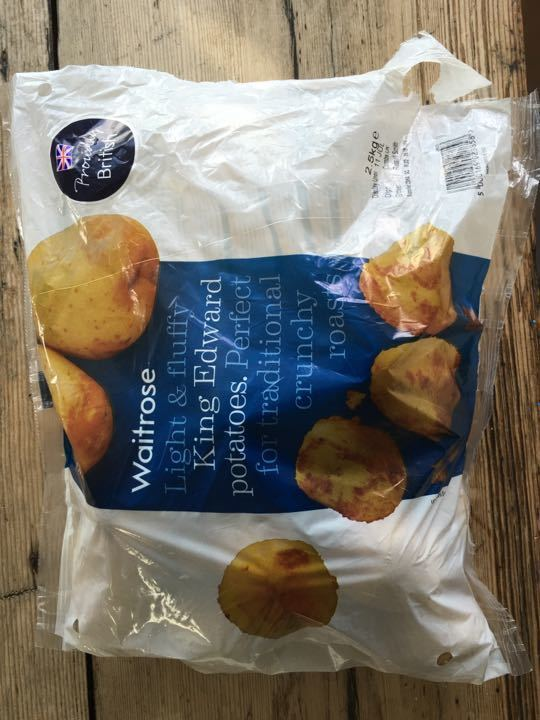 About 2kg of Waitrose King Edward potatoes
