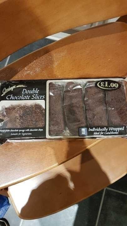 Double chocolate slices