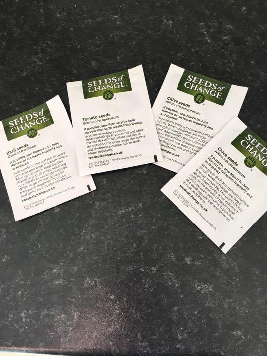 4 packs of seeds