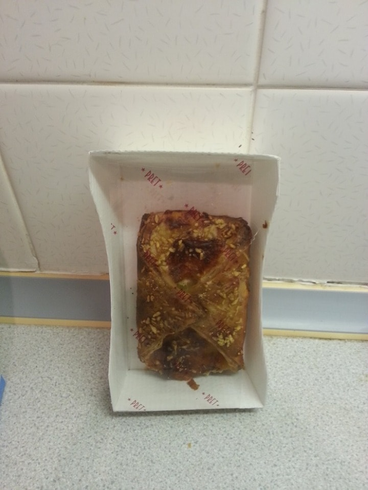 Pret meaty pastry, from Saturday night collection