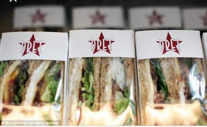 Pret food from Deansgate