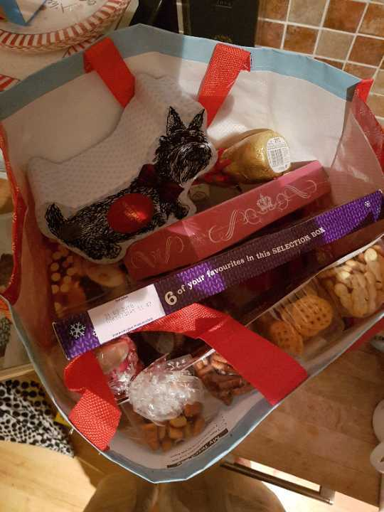 Left over yummy Xmas chocolate and snacks