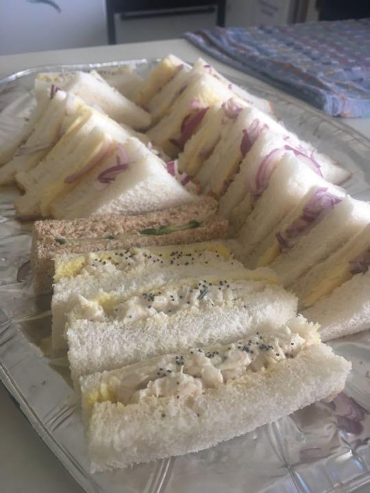Platter of sandwiches