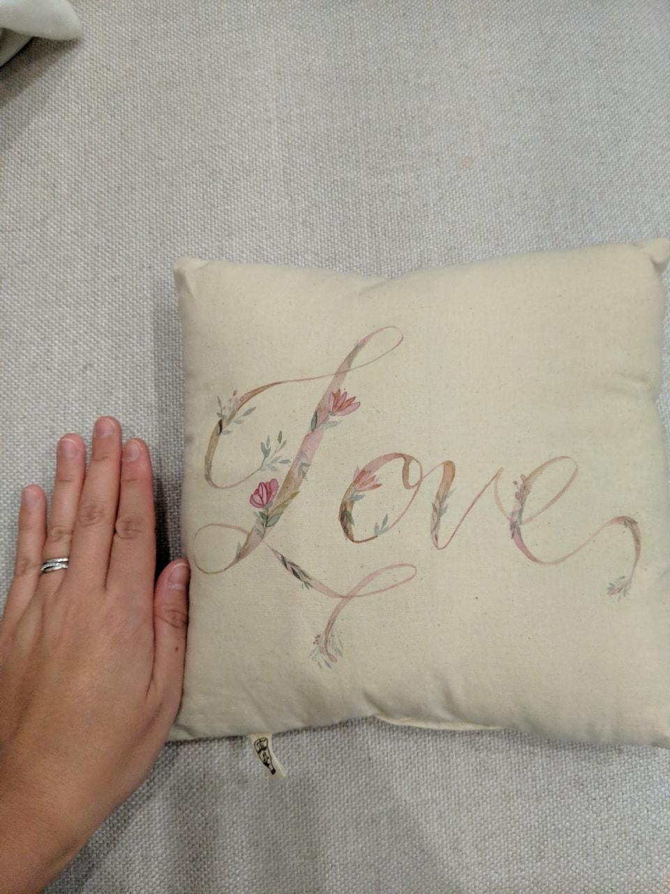 Small handpainted cushion
