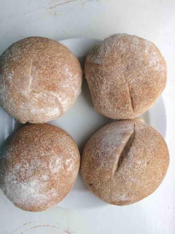 Wheat bread rolls