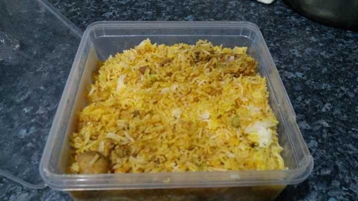Chicken biryani 4 boxes free