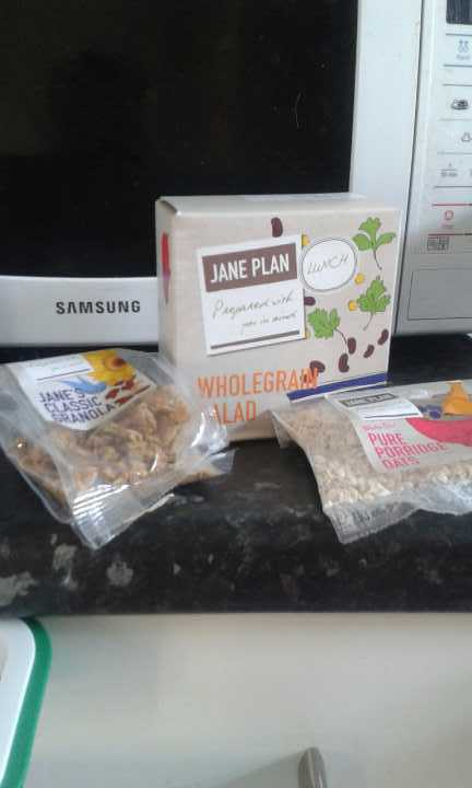 Jane plan breakfast cereal and lunch