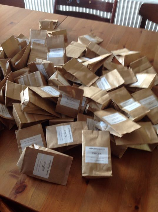 60g packets of Roasted Bean ground coffee
