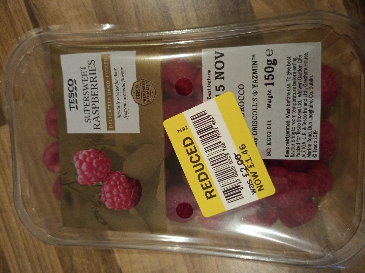 Super sweet raspberries