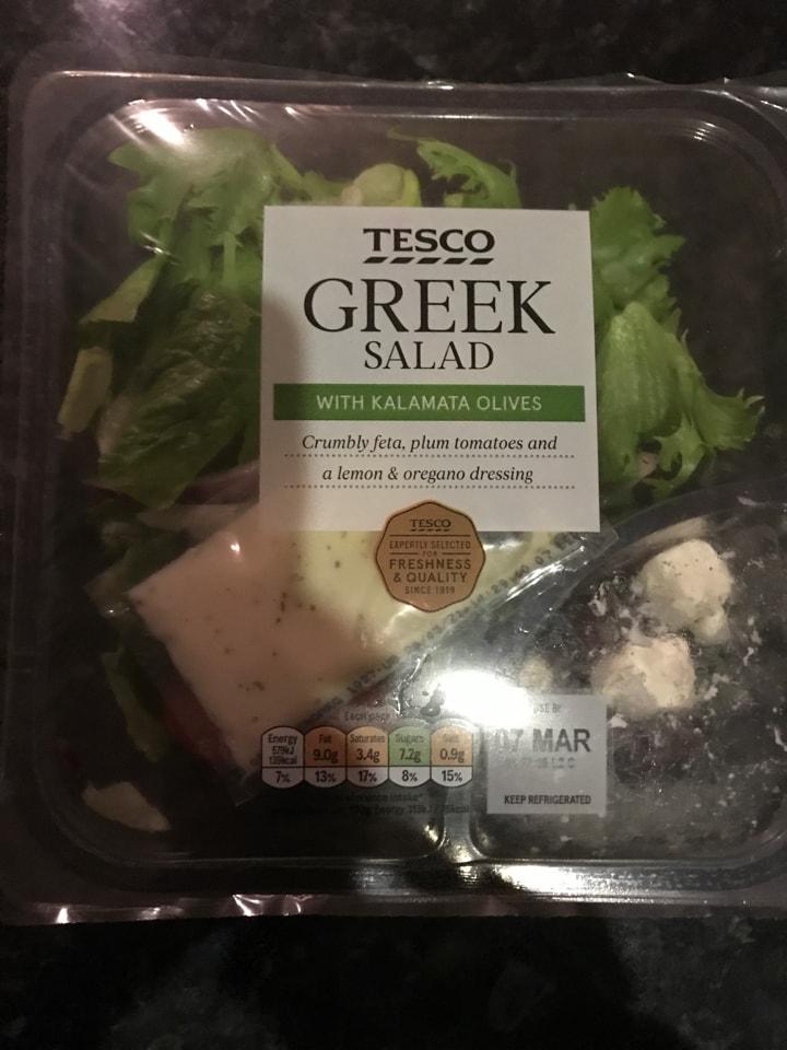 Tesco Greek Salad with Olives
