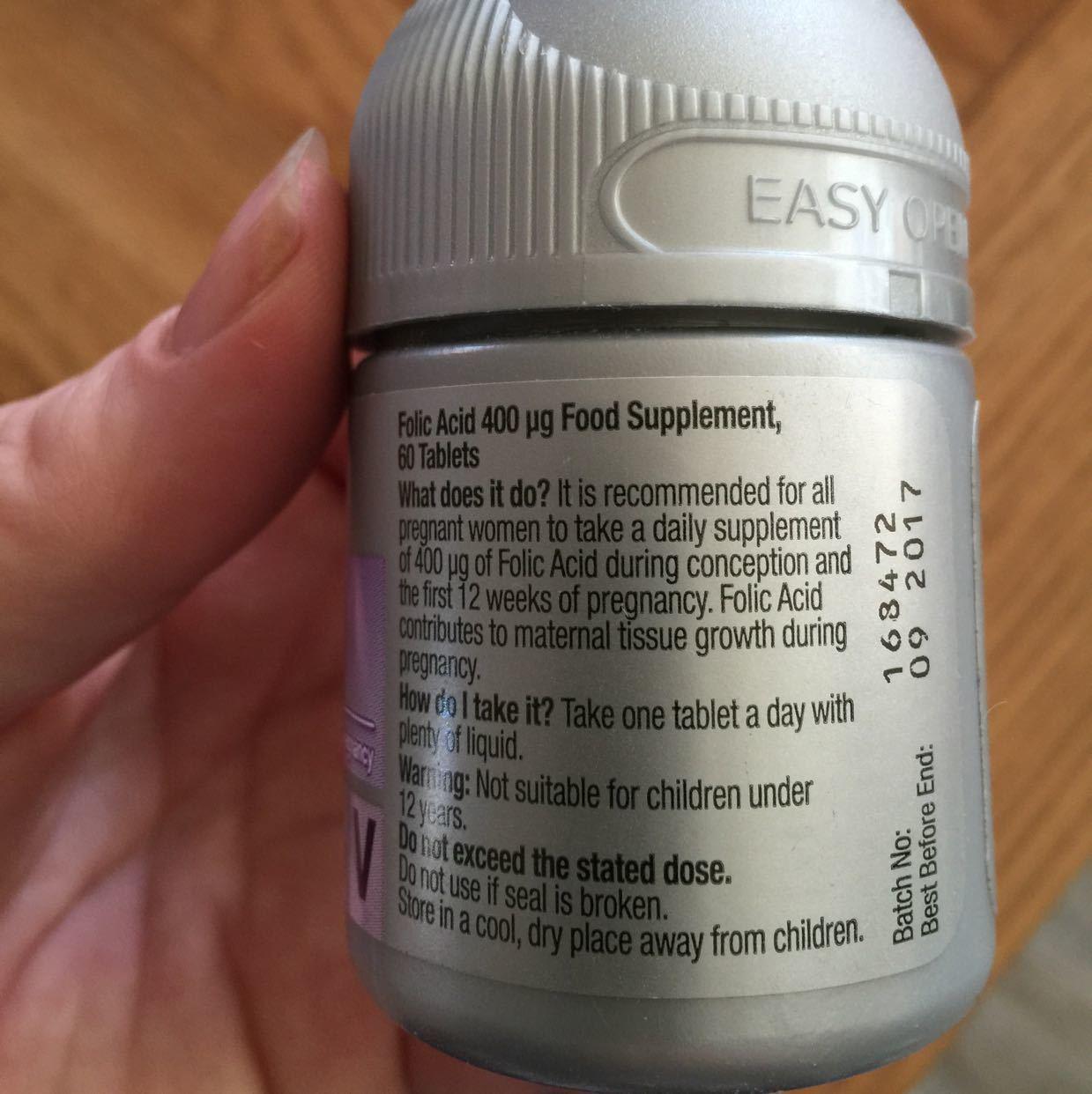 Folic acid food supplements