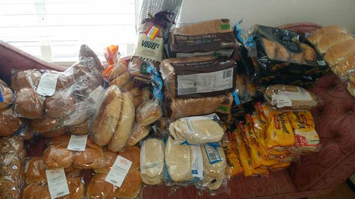 Bread products see list