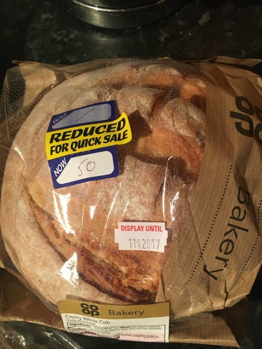 Crusty white cob loaf