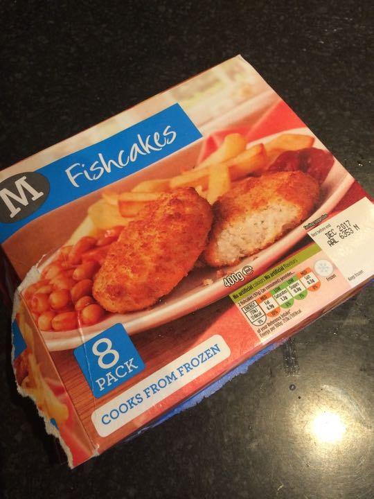 Frozen fishcakes (open box)