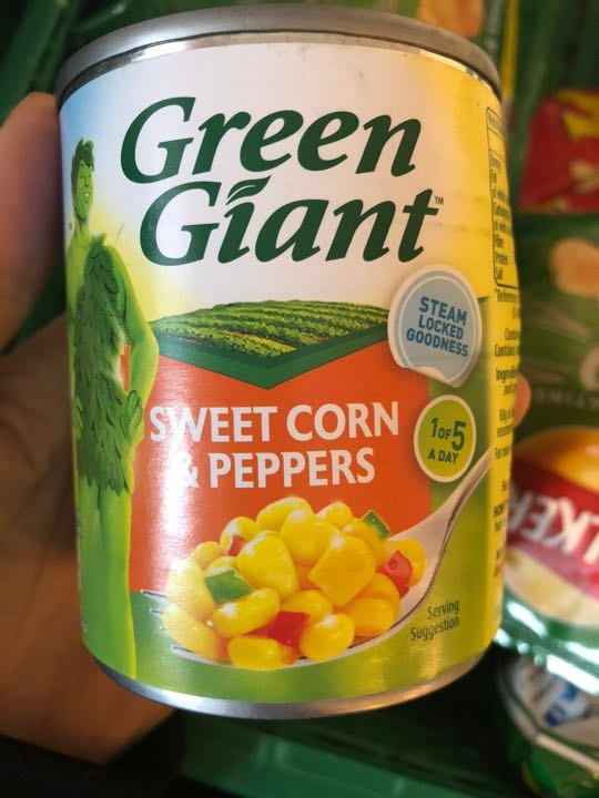 Sweet corn and peppers tinned