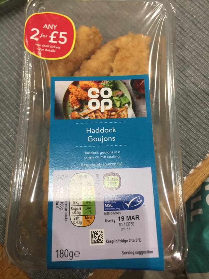 Haddock goujons