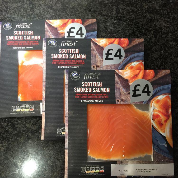 Three Smoked Salmon Packs - Unopened