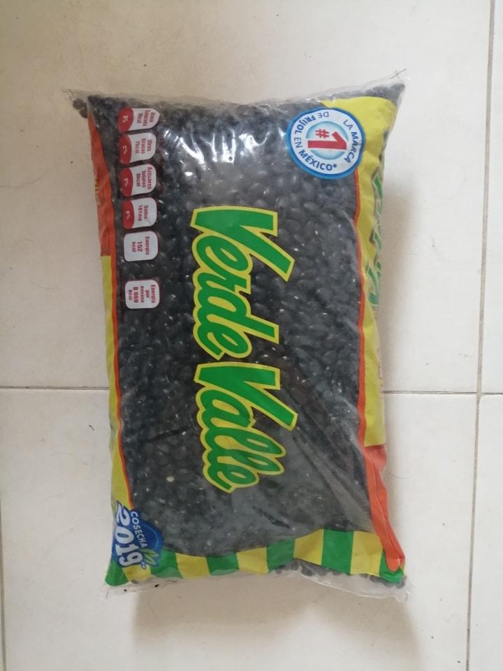 2 Kg de frijol negro Verde Valle