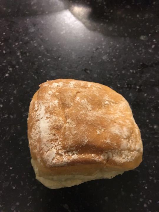 Small white floured bun