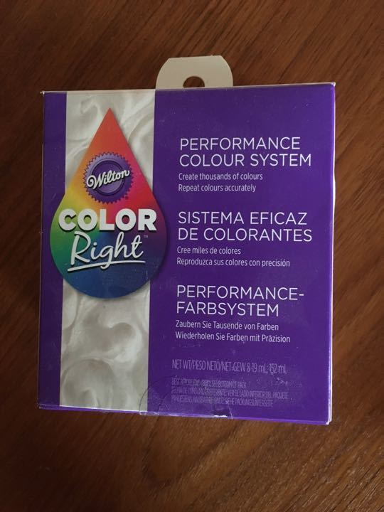 Cake icing colour system