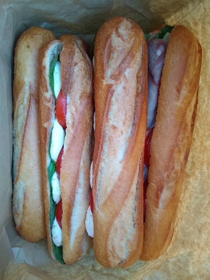 Mixed baguette sandwiches