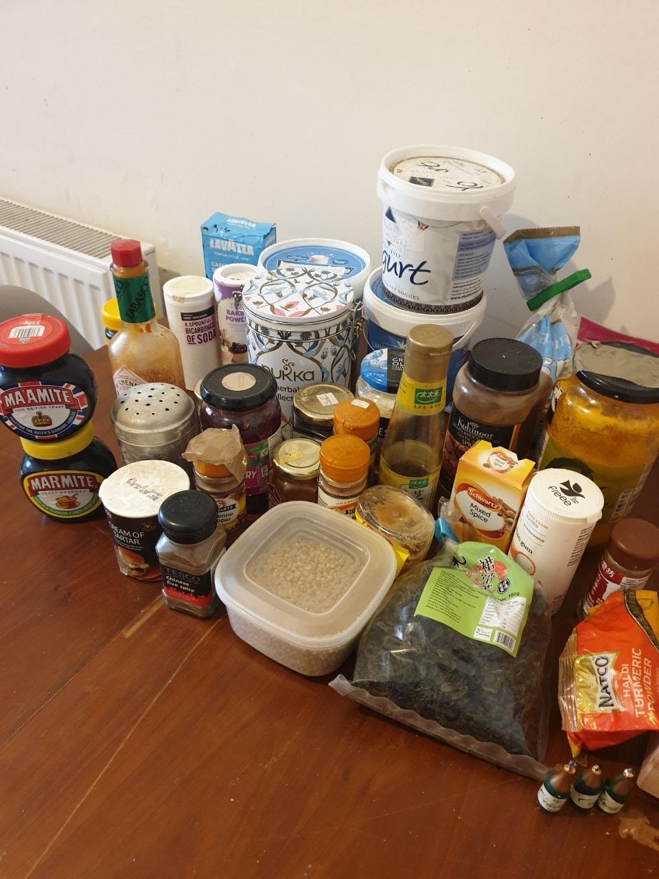Various Cupboard Items