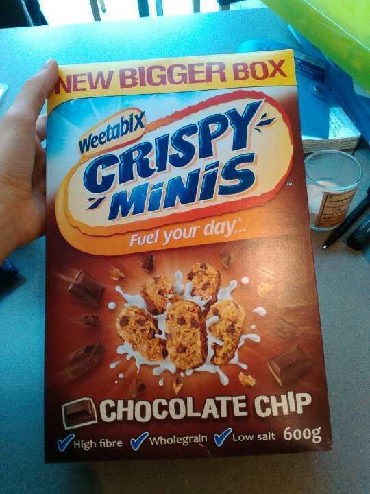 Weetabix crispy minis, chocolate chip