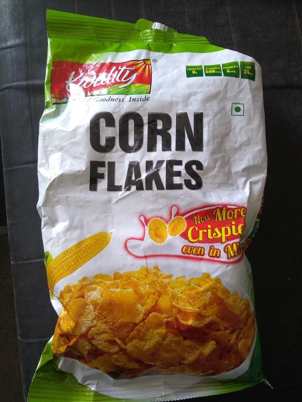 Half full packet of cornflakes