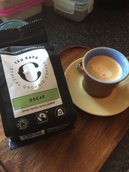 Decaf Nespresso coffee pods organic and Fairtradew
