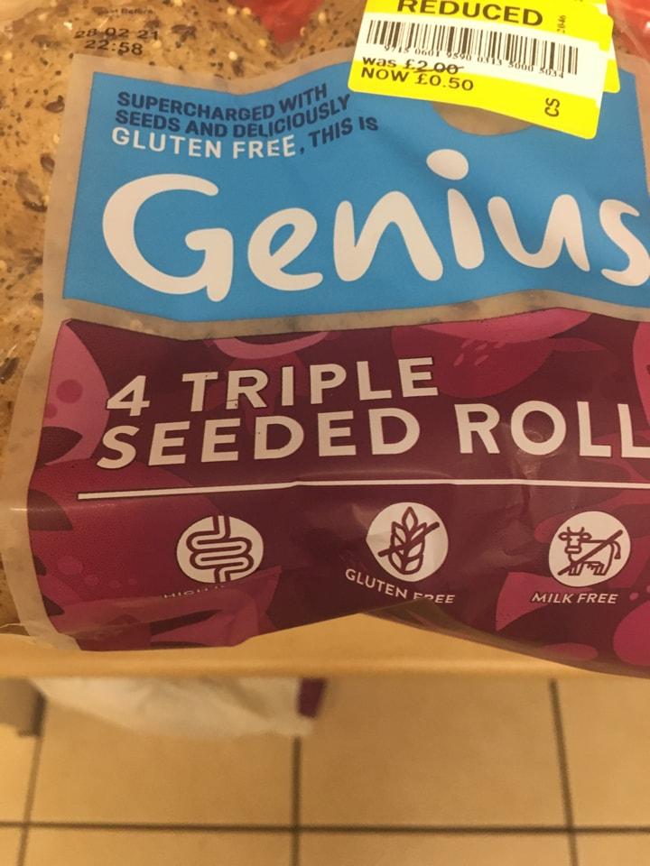 Genius triple seeded rolls