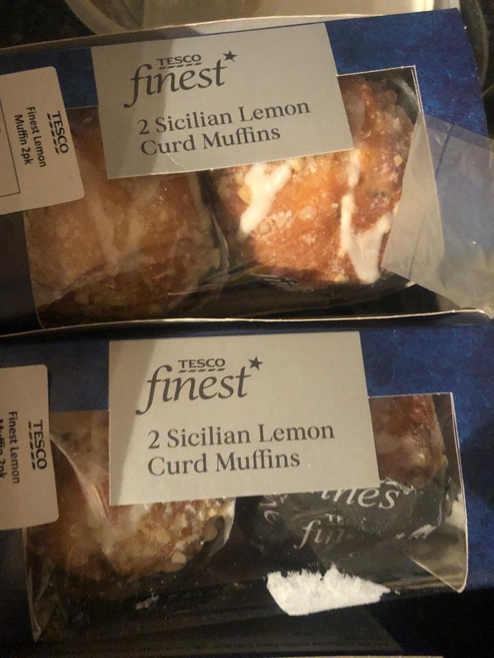 Tesco-2 Sicilian lemon curd muffins