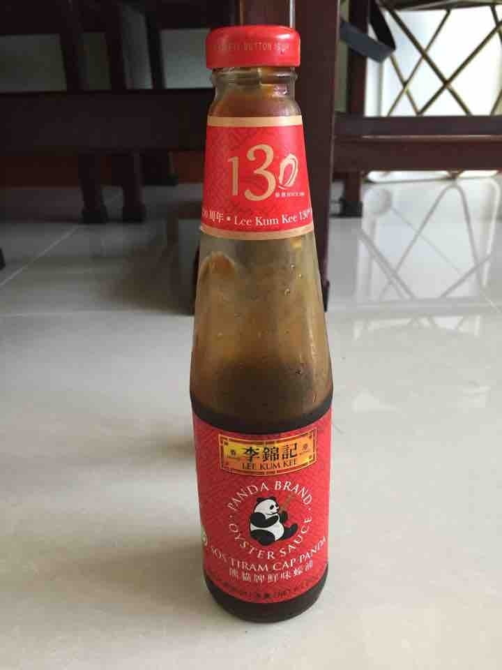 Opened oyster sauce