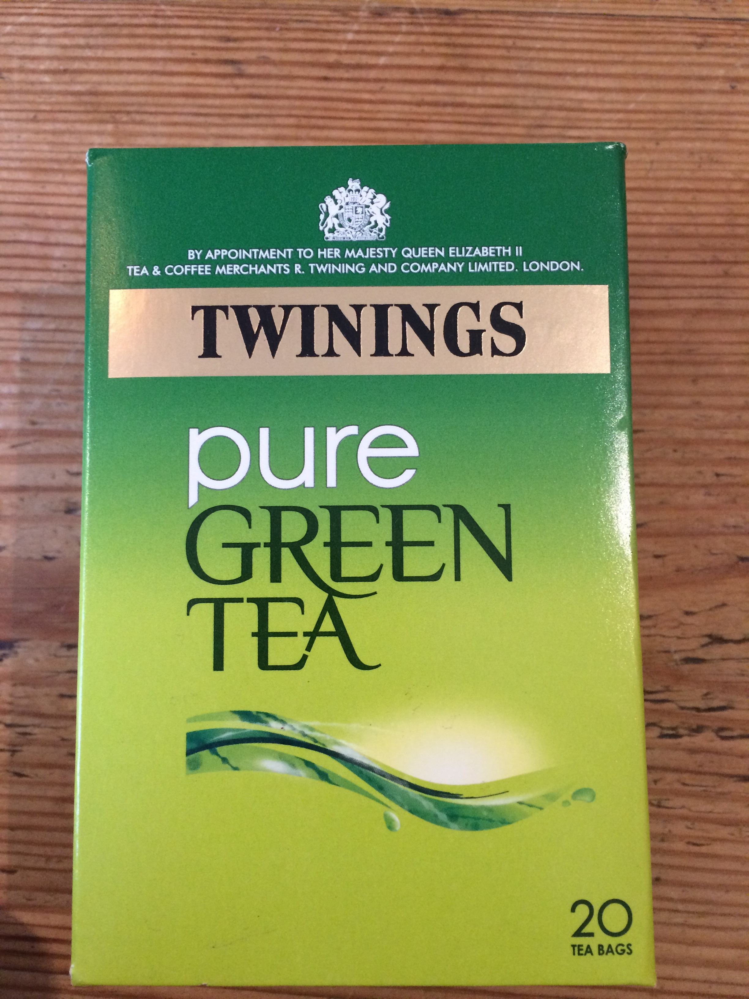 Unopened box of green tea