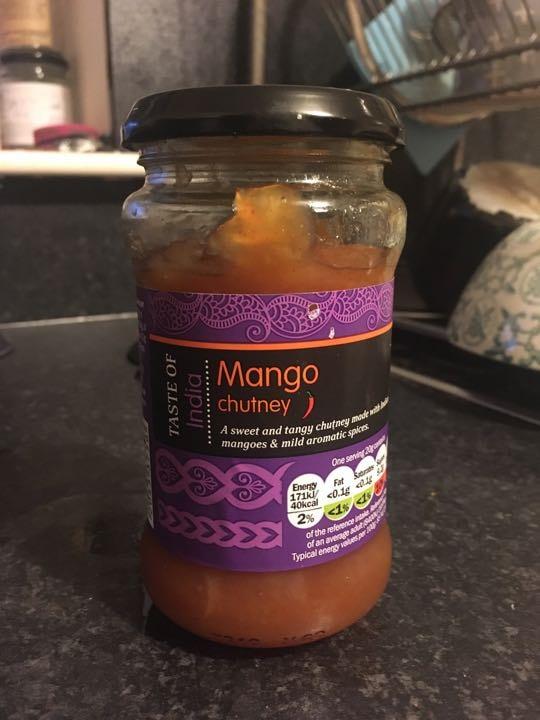 Opened mango chutney