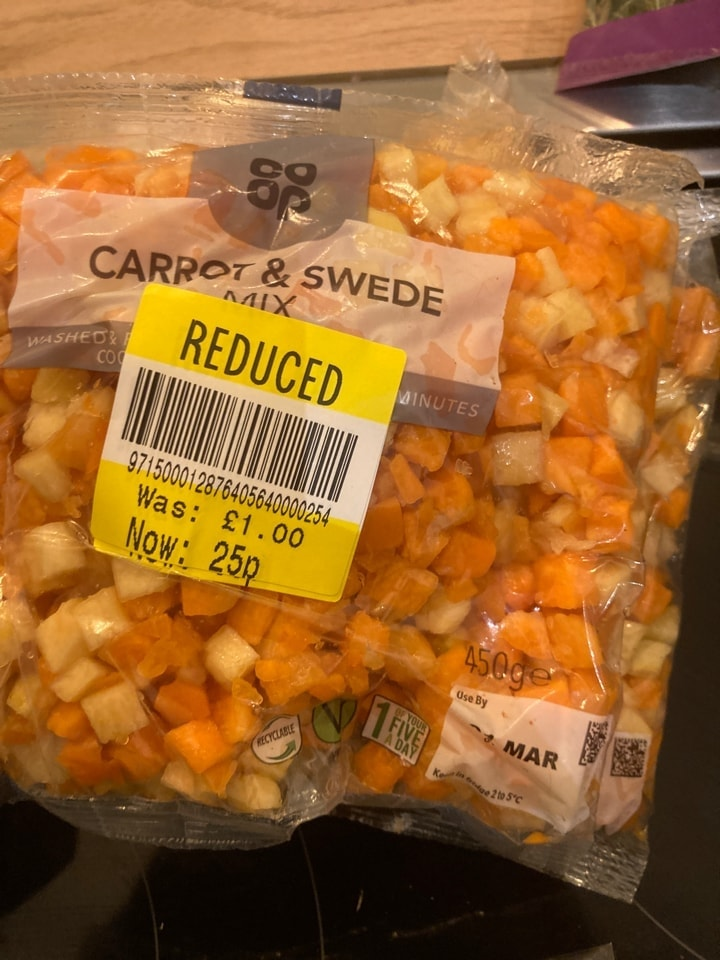 Carrot and swede mix