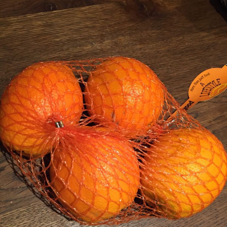 4 large organic oranges