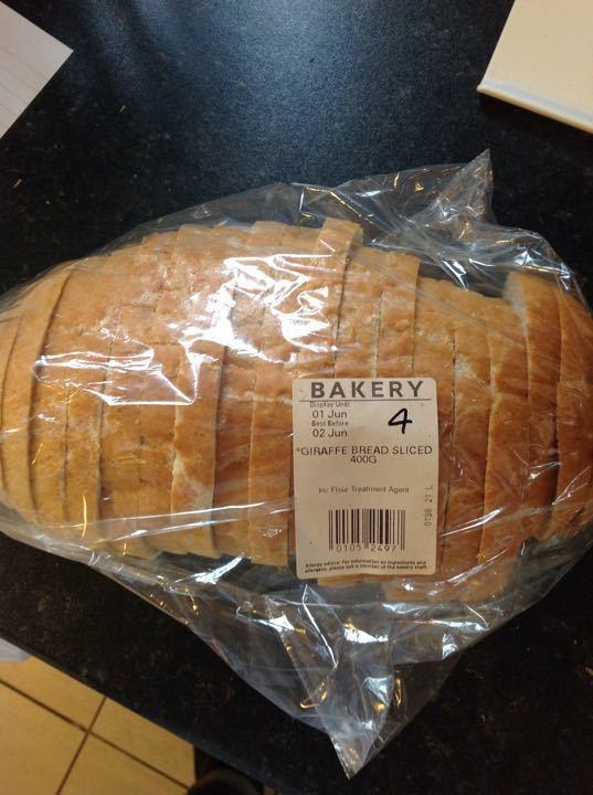 Giraffe bread sliced 400g