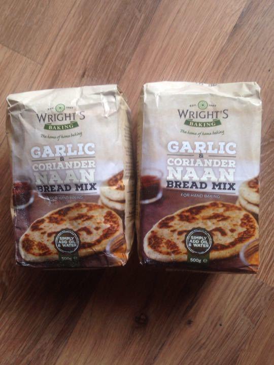 Garlic and coriander Naan bread mix