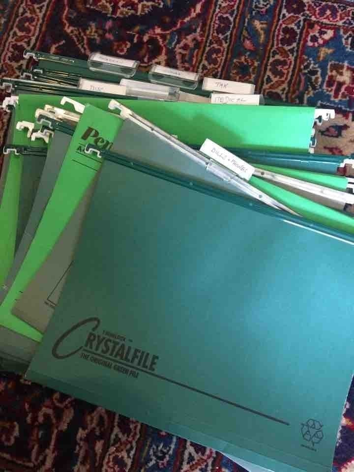 A4 files for filing cabinet