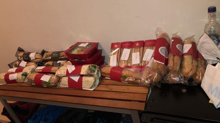 Pret salads, sandwiches and wraps
