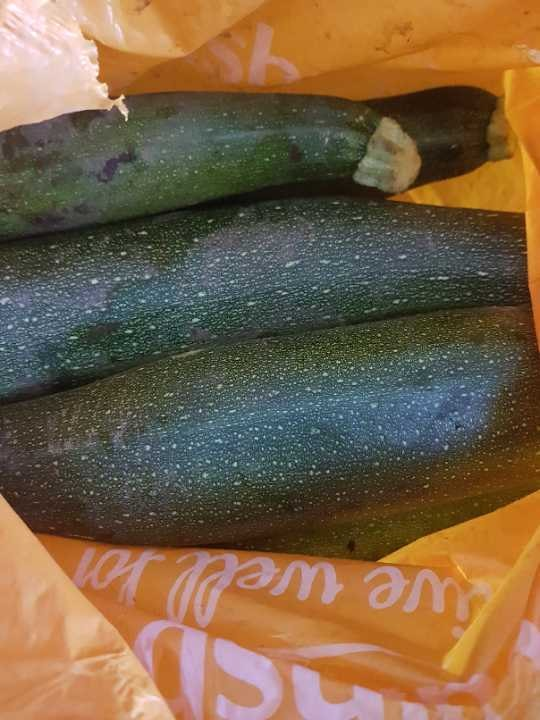 Freshly picked large courgettes/marrows