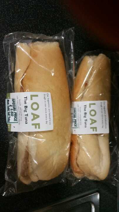 2 tuna baguettes from Loaf