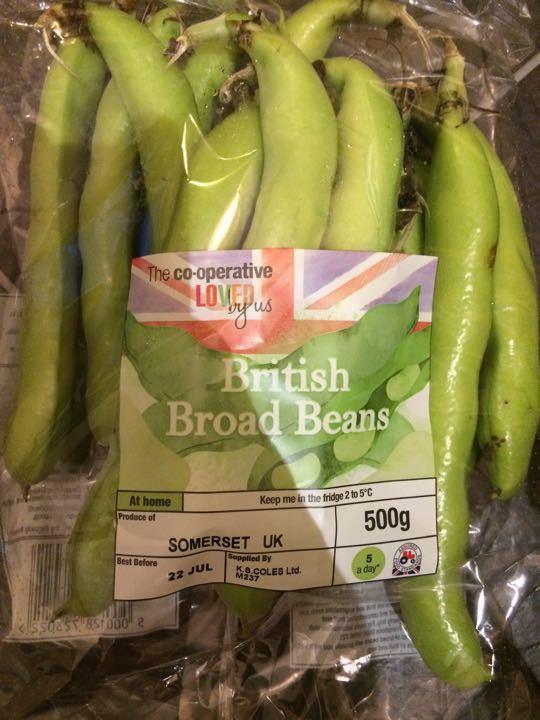 British broad beans