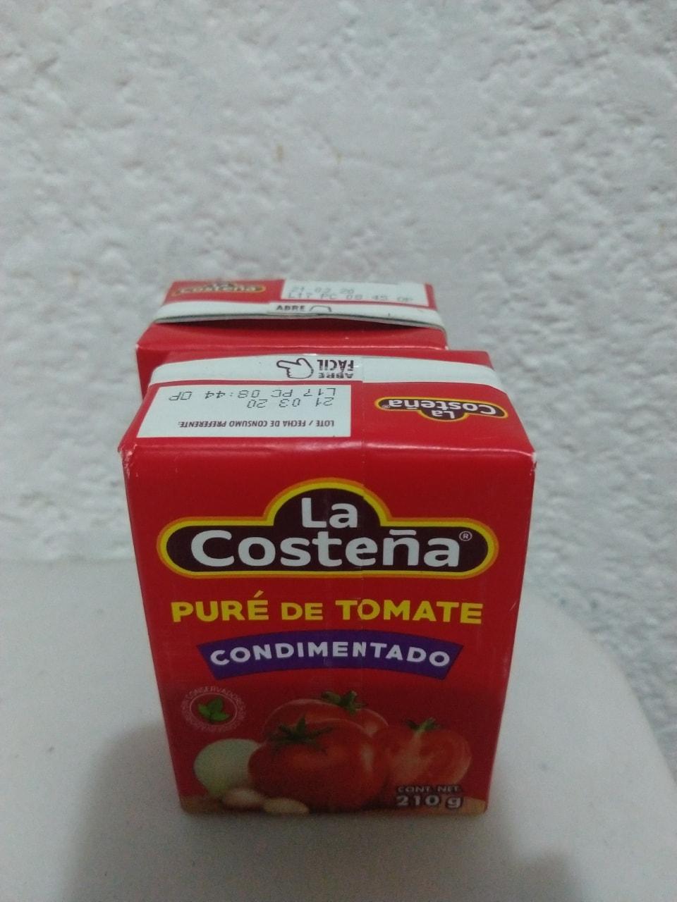 Pure de tomate 210g