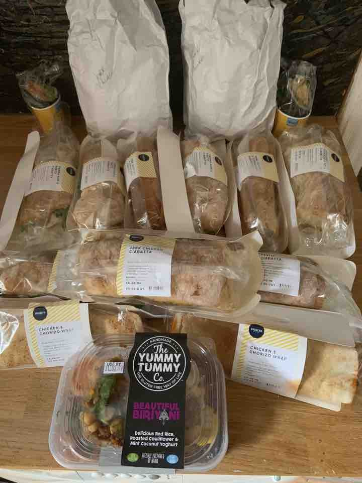 Sandwiches donated by Sourced Market in Victoria