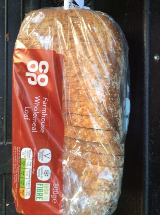 Coop wholemeal sliced large loaf