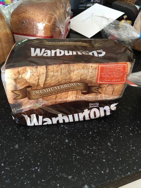 Warburtons brown sliced bread