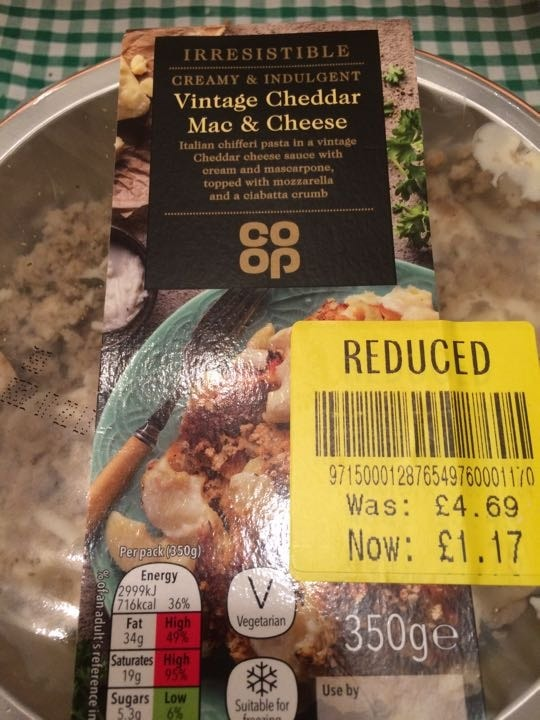 Mac and cheese - collect by 10.30pm
